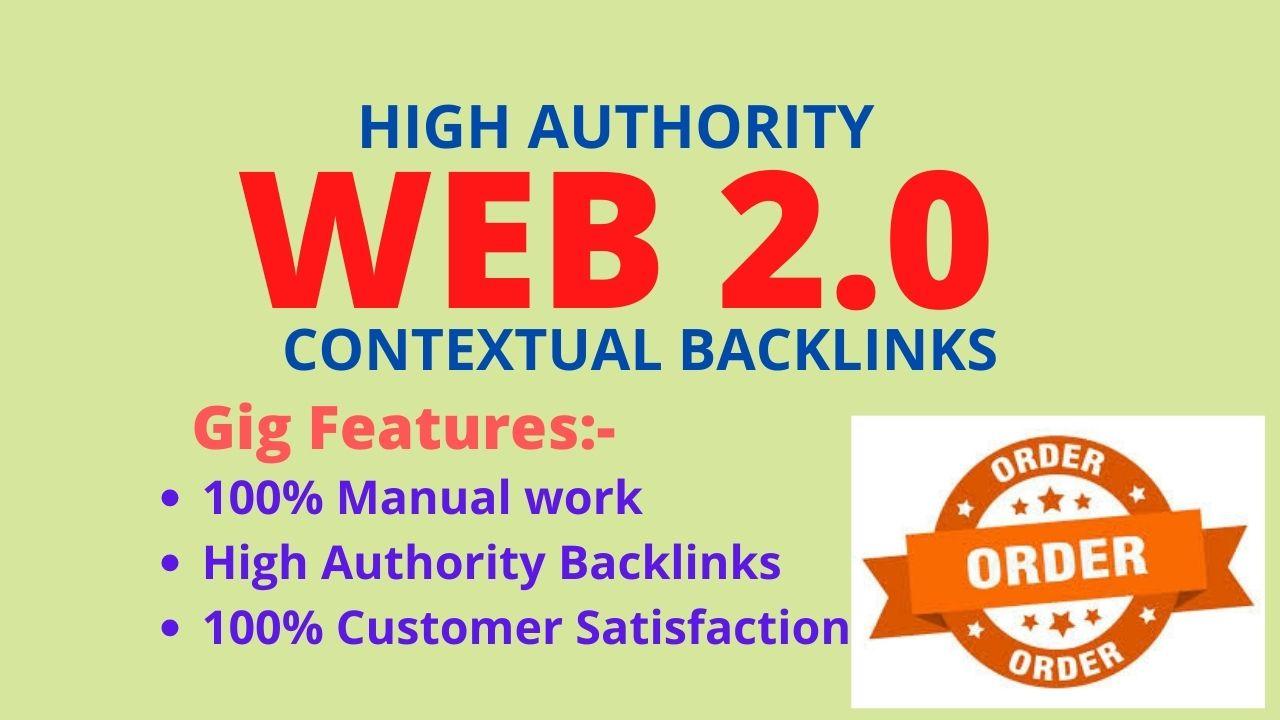 I will do authority 250 web 2.0 contextual backlinks