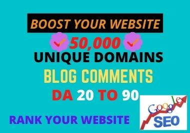 I will do 50,000 unique domains blog comments SEO backlinks