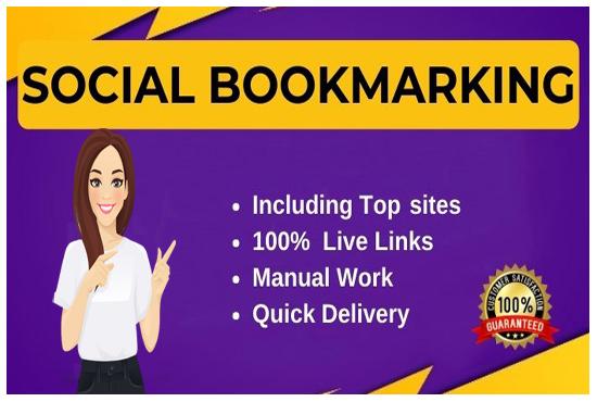 I will manually create 15 social bookmarking on high da backlinks