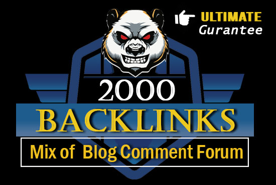 2000 blog comment and forum mix backlinks in best deals