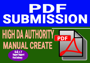 50 Manual PDF or Document Submission On Top Pdf sharing sites for google ranking