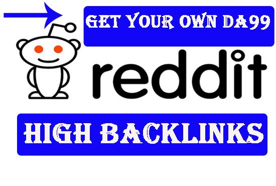 30 98DA+ REDDIT NICHE BACKLINK Best For Rankings