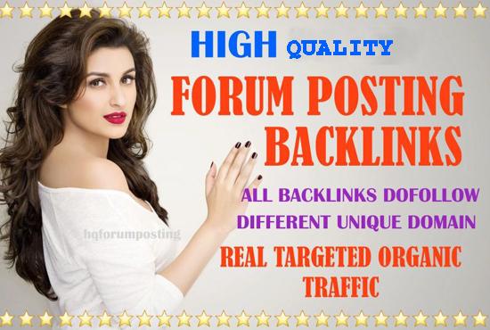 I will do forum backlinks posting high quality 90