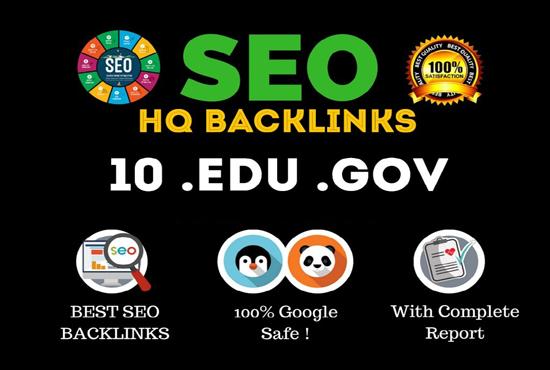 I will boost your high da premium quality EDU gov backlinks