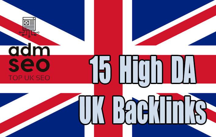 I will manually do high quality SEO 15 UK backlinks