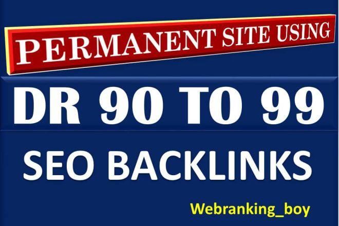 I will manually build 80 high DR 90 to 99 SEO dofollow backlinks for high ranking seo