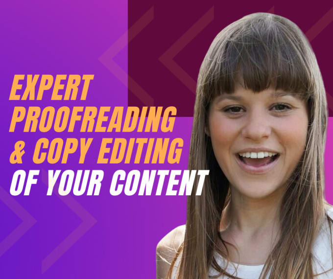 I will provide expert proofreading and copy editing services