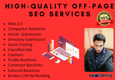 I will do monthly off-page SEO service 1st rank your website on google