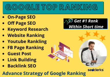 I will optimize your website for google top ranking by SEO Service
