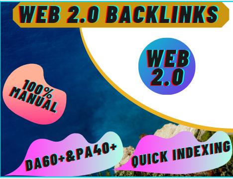 I Will Provide 50 High DA & PA WEB 2.0 Backlinks
