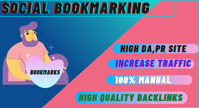 Enjoy 100 social BOOKMARKING on high DA & PA sites manually