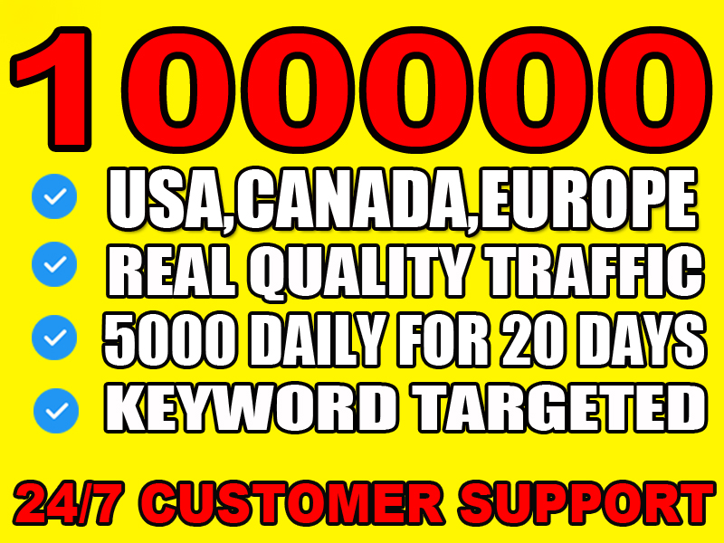 I will drive usa, canada, europe targeted daily visitors to your website