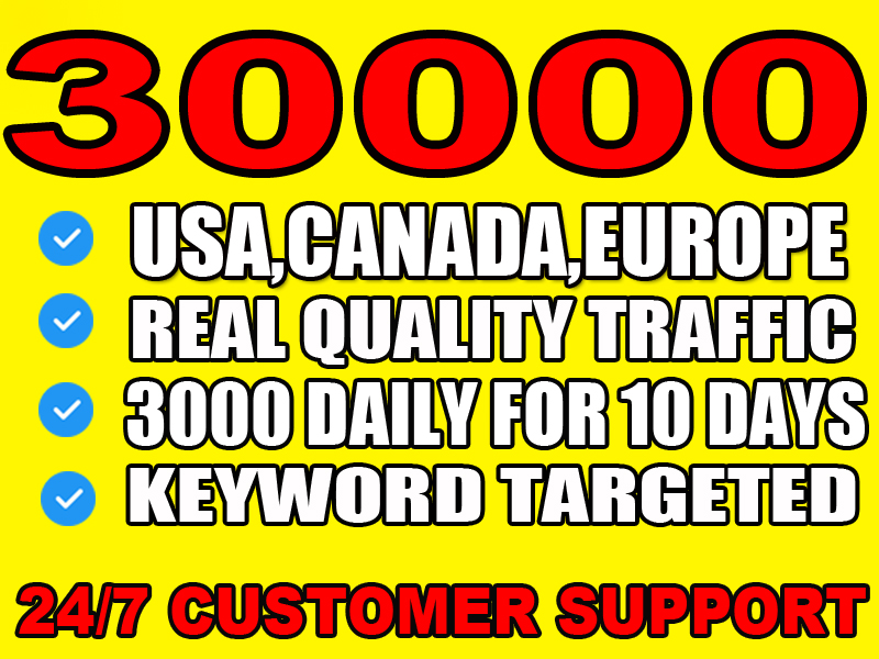 I will bring unlimited organic targeted usa web traffic