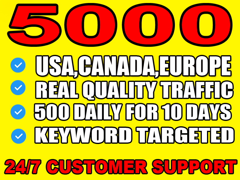 I will drive safe organic traffic from usa, canada and europe