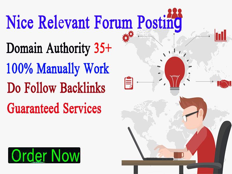 20 HQ Forum Posting Backlings On High DA Site