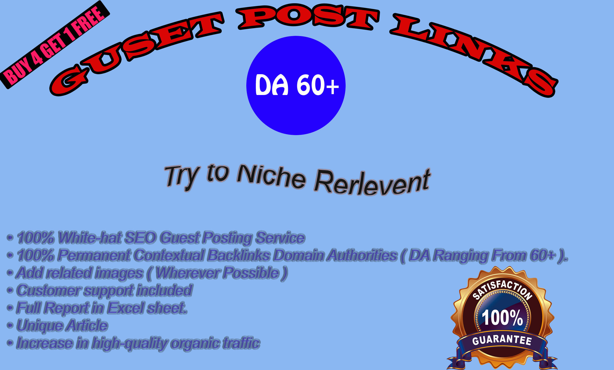 I will write and publish 20 quality guest post on High DA site