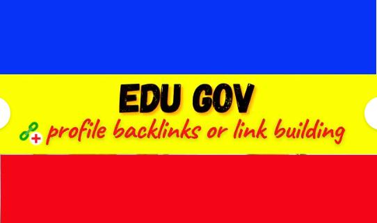 Create 100 high da edu gov profile backlinks