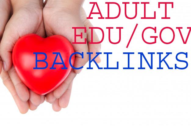 Create adult site 250 EDU GOV Profile Backlinks for Adult links