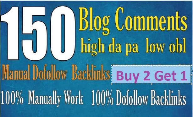 Create250 blog comments backlinks high da pa tf cf link