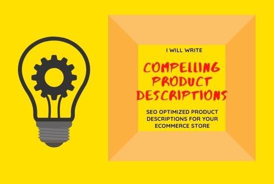 I will write compelling product description for e commerce store