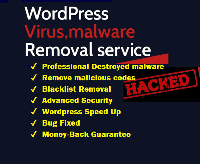 I will recover hacked site,  wordpress malware remove virus,  fix website fast security