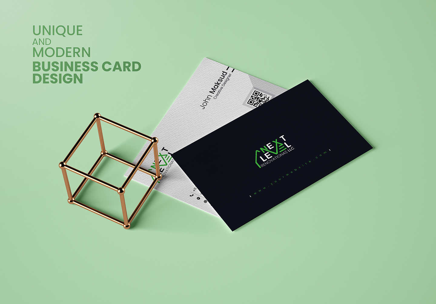 I will create unique and modern Business Card Design in 24 hours