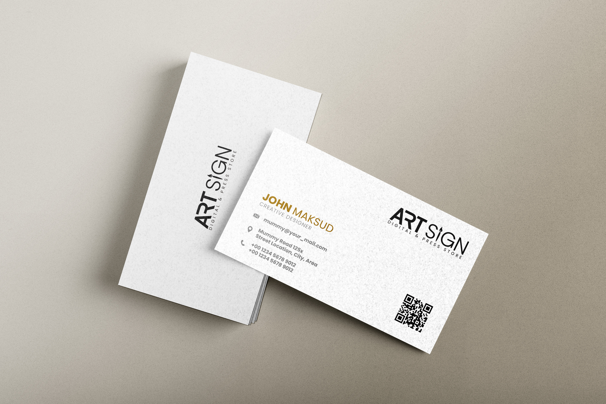 I will design minimalist and modern business card for your business in 24 hours