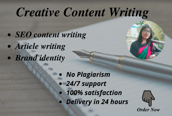 I will be your 1200 words expert SEO friendly creative content writer