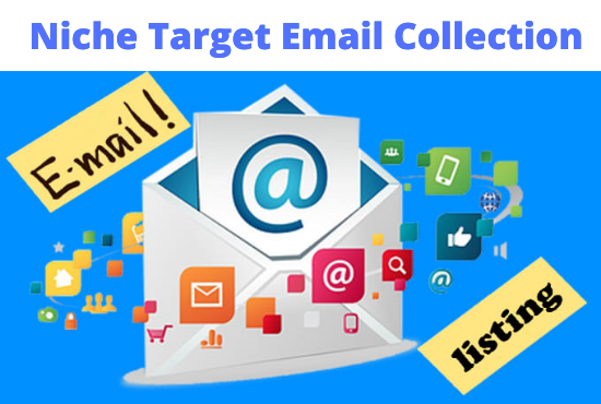 I will collect qualified niche targeted email list for USA and Canada