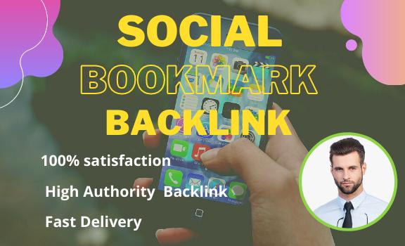 I will do 100 social media bookmark backlinks for SEO