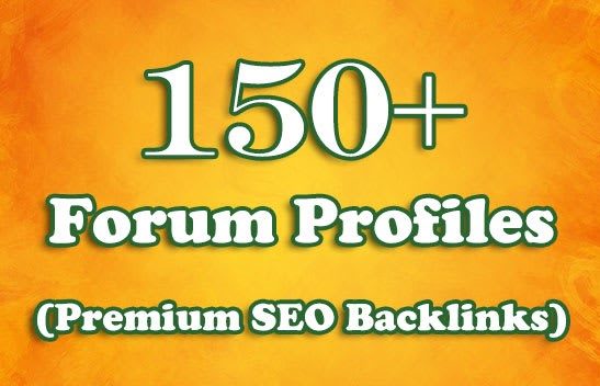 150+ forum profile backlink High Authority SEO Backlinks Services