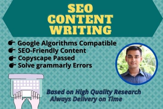 I will write 1500 words SEO friendly content for website and blog.
