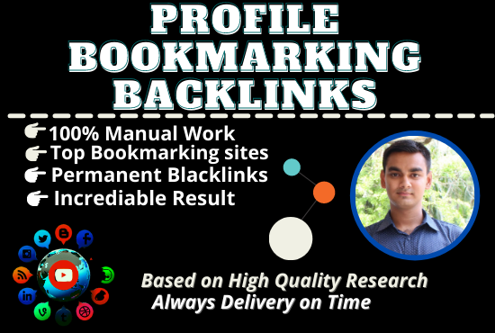 I will do up to 100 high DA Profile backlinks for website SEO.