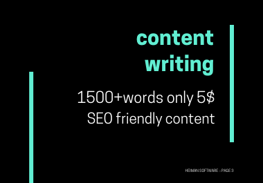 I will write 2000 content,  article writer and website content writing