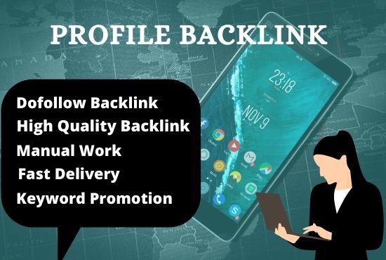 I will do 100 high da pa SEO profile backlinks,  seo dofollow backlinks