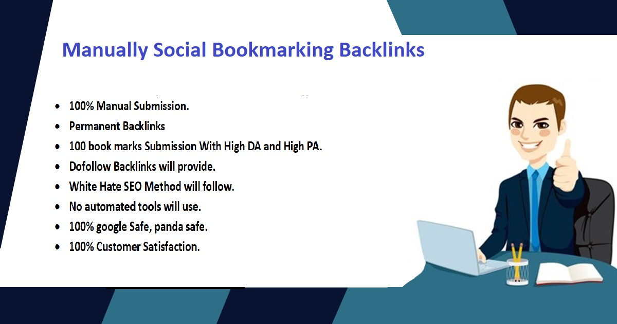 I will create manually 200 social bookmarking backlinks