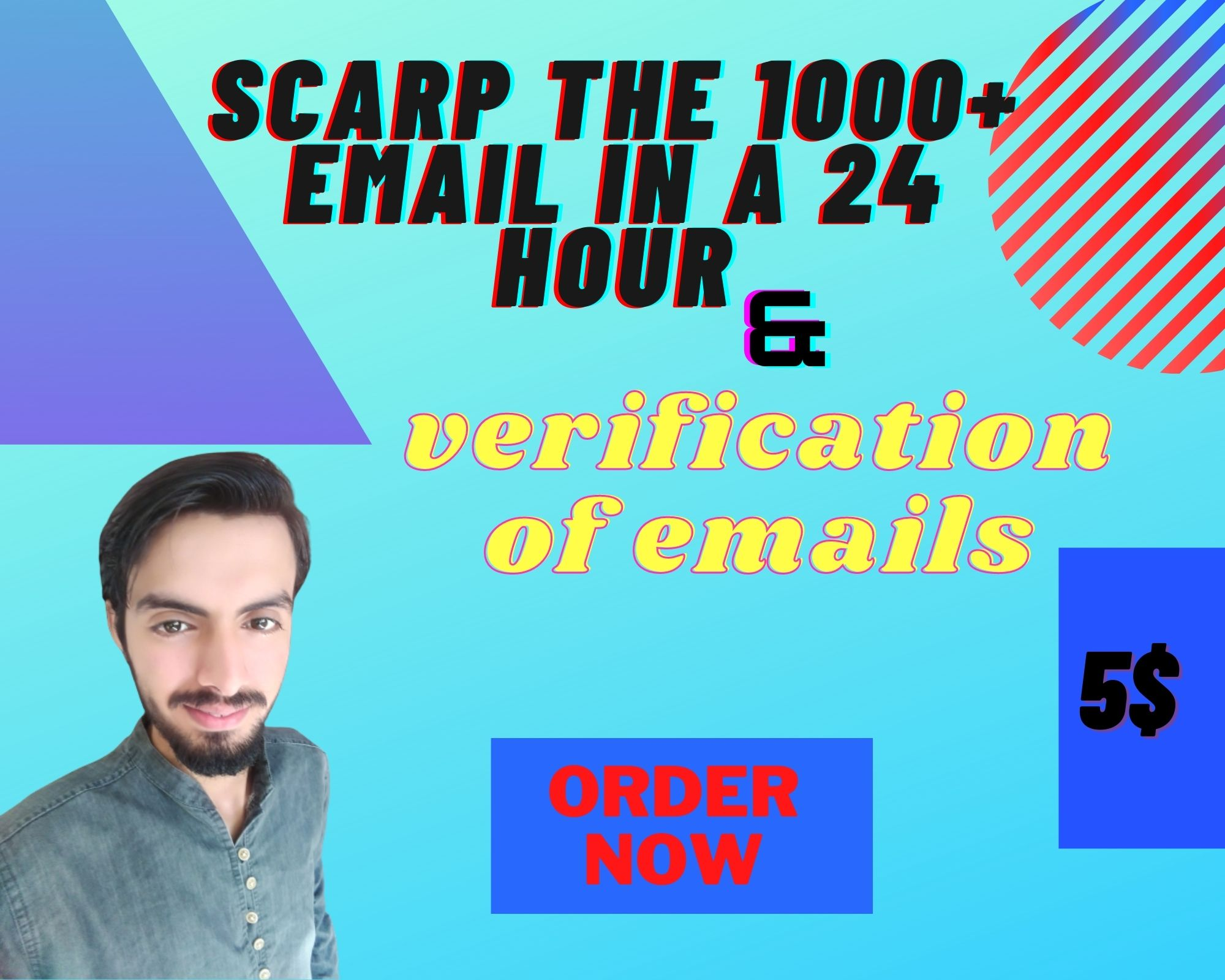 I will do 1000+ email scrap from social media and verification in 24 hr
