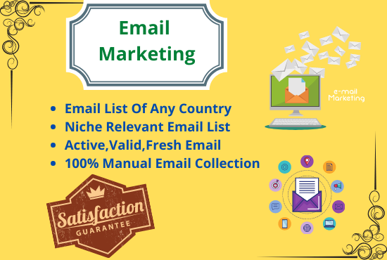 I will collect 5K active and niche targeted emails for your business