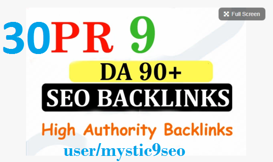 Create manual 30 high DA PR9 and pr10 High Authority Backlinks