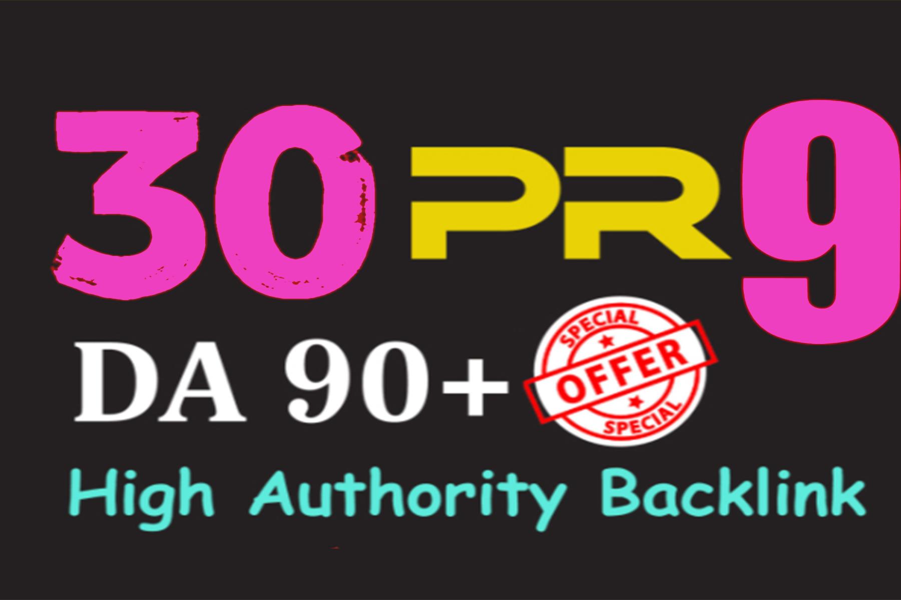 Manually Do 50 Pr9 DA 80+ Safe SEO High Authority Backlinks 30+ Domain HIGH QUALITY BACKLINKS