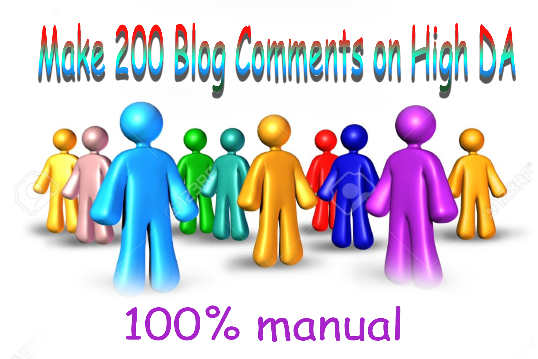 Build Manually 200 high TF,  CF Dofollow Blog comments back links on high DA unique blogs
