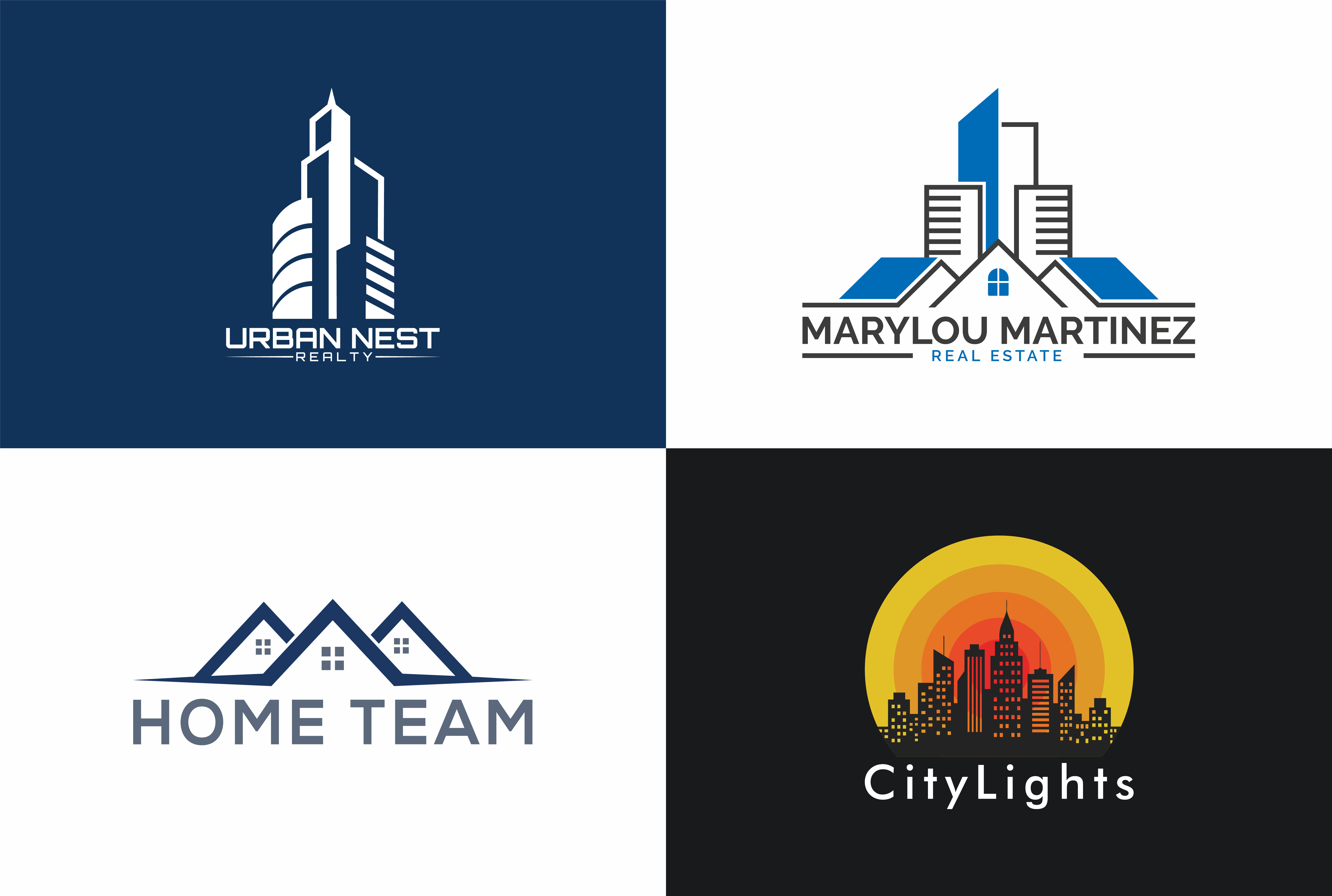 I will design minimalist realtor real estate property professional Business logo in 24hours