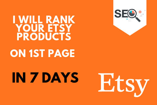 rank 2 Etsy products on first 1st page in 7 days