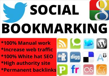Social Bookmarks Backlinks 80+ High Quality