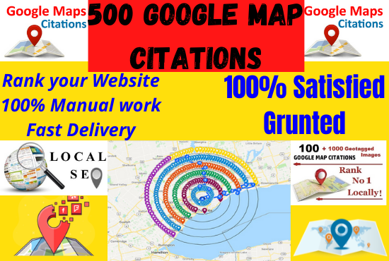 Create 500 Manual Google Map Citations Pointing To Boost Business Page and Rank Your Website