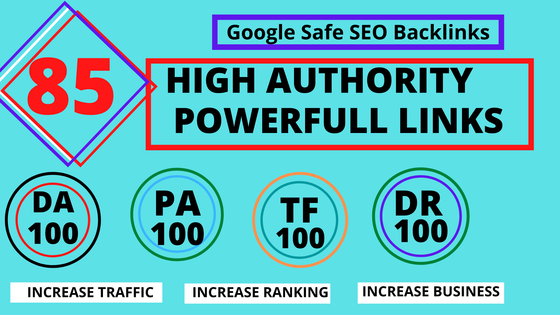 TOP OFFER-Build 85 Unique Domain SEO Backlinks On TF100 DA100 Sites