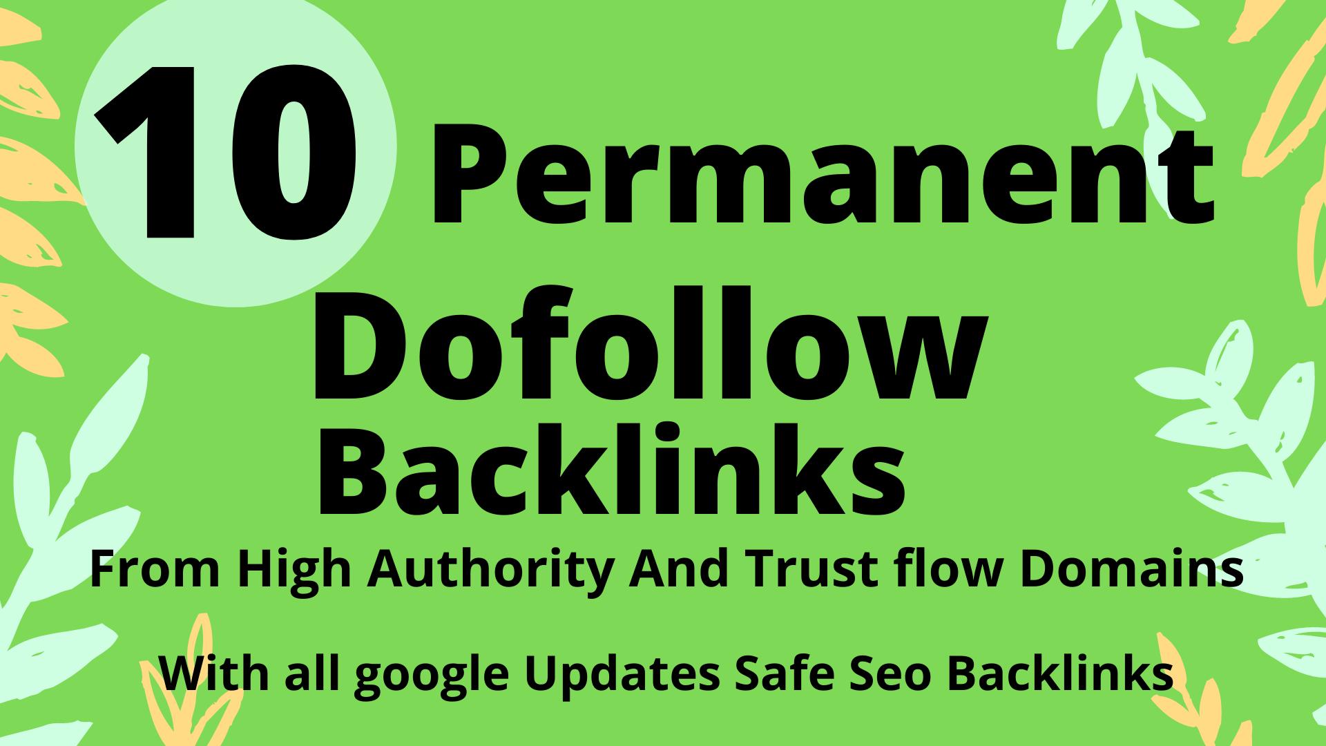 Create 10 Dofollow Profile DA 40+ Backlinks