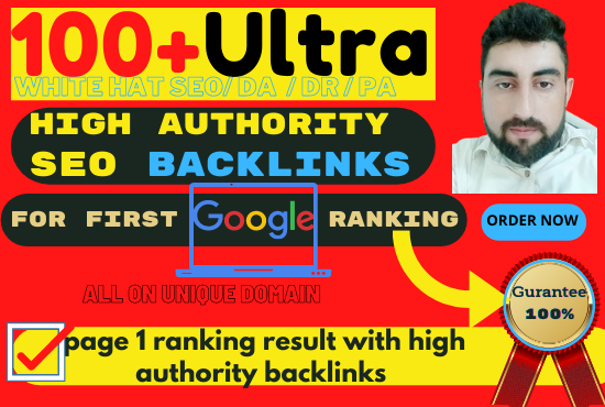 100 SEO backlinks white hat manual link building for google top ranking