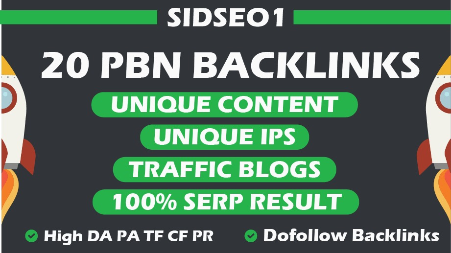 Create 20 Aged Homepage PBN Backlinks with High Metrics And Low Spam