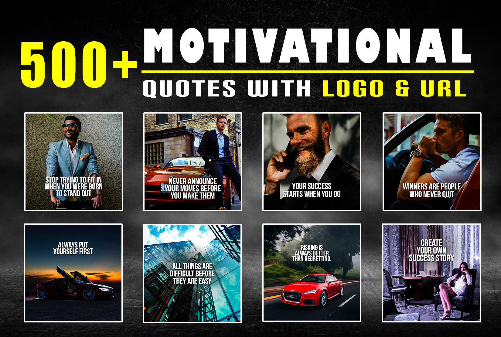 I will design 500 motivational inspirational business quotes for instagram